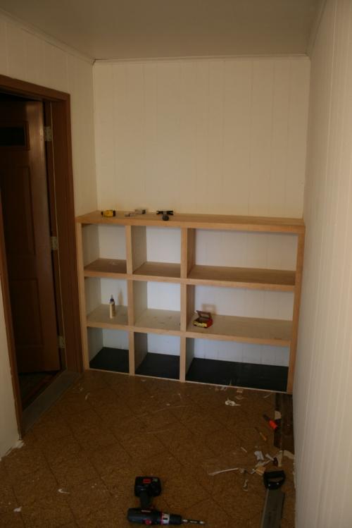 Mudroom shelves 005